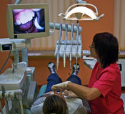 Visit at the dentist Royalty Free Stock Images