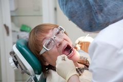 Visit at the dentist Stock Photography