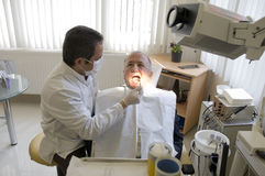 Visit at the Dentist Stock Photos