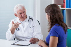 Visit in doctor's office Stock Images