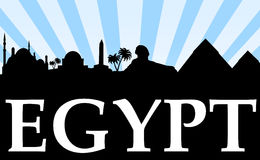 Visit egypt skyline commercial Stock Image