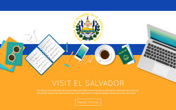 Visit El Salvador concept for your web banner or. Royalty Free Stock Image