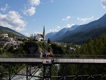 Visit Engiadina - Scuol and other host cities royalty free stock photography
