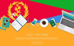 Visit Eritrea concept for your web banner or. Stock Photography