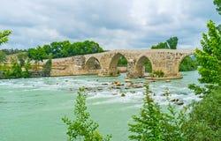 Visit Eurymedon Bridge in Aspendos Royalty Free Stock Photography