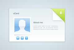 visit för vektor för kortillustration info personlig Royaltyfria Bilder