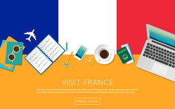 Visit France concept for your web banner or print. Stock Photography