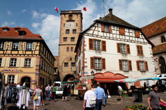 Visit French village Stock Image