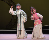 "Visit a garden or park-Cui Yingying and the maid-Kunqu Opera ""the West Chamber"" Royalty Free Stock Photography"