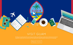 Visit Guam concept for your web banner or print. Royalty Free Stock Images