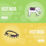 Visit India Travel Company Landing Page Template Stock Image