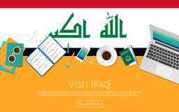 Visit Iraq concept for your web banner or print. Royalty Free Stock Photography