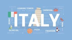 Visit Italy concept. Stock Photos
