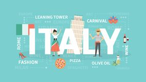 Visit Italy concept. Stock Photography