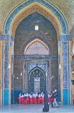Visit Jameh Mosque in Yazd, Iran royalty free stock photo
