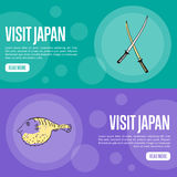 Visit Japan Travel Company Landing Page Template Stock Photos