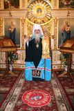 The visit of Metropolitan Philaret, the former Patriarchal Exarch of Belarus, Gomel. Royalty Free Stock Photography
