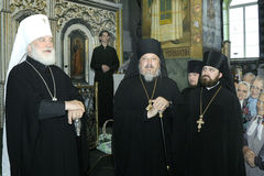 The visit of Metropolitan Philaret, the former Patriarchal Exarch of Belarus, Gomel. Stock Photography
