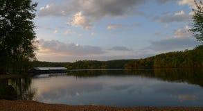 Visit Missouri lake with boat slips Stock Photo
