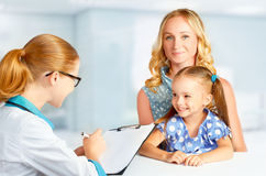 Visit mother and child to doctor pediatrician Royalty Free Stock Images