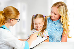 Visit mother and child to doctor pediatrician Royalty Free Stock Photo