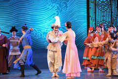 """Visit newborn child-Dance drama """"The Dream of Maritime Silk Road"""". Dance drama """"The Dream of Maritime Silk Road"""" centers on the plot of two generations Stock Images"""