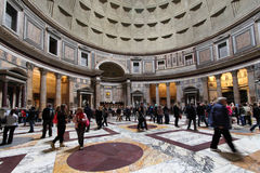Visit of the Pantheon, in Rome Royalty Free Stock Photos