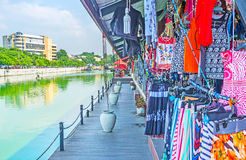 Visit Pettah Floating Market in Colombo. The wide range of stalls, offering clothes, shoes, souvenirs and other goods in Pettah Floating Market, Colombo, Sri Royalty Free Stock Images