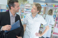 Visit from pharmaceutical industry representative Royalty Free Stock Photography