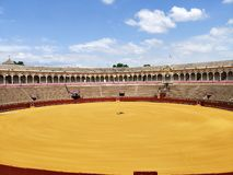 A visit to Plaza de Toros at Seville Spain stock image