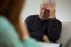 Visit a psychiatrist Stock Photography