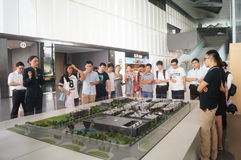 Visit Qianhai free trade zone construction planning landscape Stock Photos