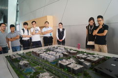 Visit Qianhai free trade zone construction planning landscape Royalty Free Stock Images