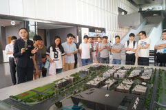 Visit Qianhai free trade zone construction planning landscape Royalty Free Stock Image