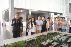 Visit Qianhai free trade zone construction planning landscape Royalty Free Stock Photography