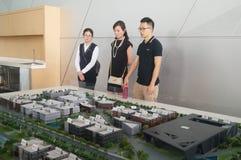 Visit Qianhai free trade zone construction planning landscape Stock Image