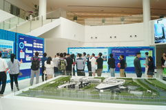 Visit the Qianhai Free Trade Zone Development Achievements Exhibition. People visit the Qianhai free trade zone development achievements exhibition, in Guangdong Royalty Free Stock Photos