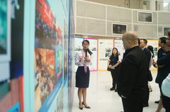 Visit the Qianhai Free Trade Zone Development Achievements Exhibition. People visit the Qianhai free trade zone development achievements exhibition, in Guangdong Stock Photography