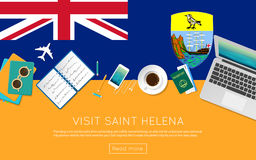 Visit Saint Helena concept for your web banner or. Royalty Free Stock Images