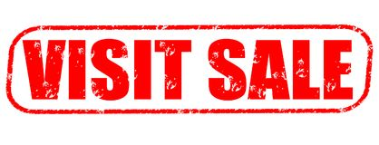 Visit sale red stamp. On white background Stock Photos