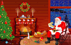 On a visit at Santa. On a visit at father Christmas up to New Year Royalty Free Stock Photo