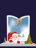 Visit Santa Claus. Composition with Santa Claus and the Christmas tree on Christmas Royalty Free Stock Photo