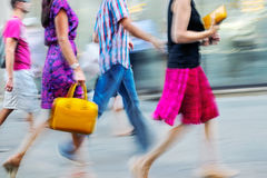 Visit the shops in city Royalty Free Stock Photography