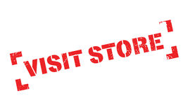 Visit Store rubber stamp Stock Photography