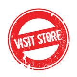 Visit Store rubber stamp Stock Images
