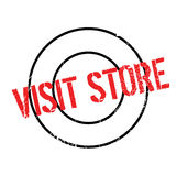 Visit Store rubber stamp Stock Photos