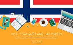 Visit Svalbard And Jan Mayen concept for your web. Stock Images