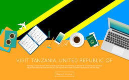 Visit Tanzania, United Republic of concept for. Royalty Free Stock Images