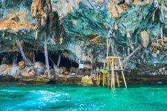 Visit Tham Phaya Nak Viking Cave, Phi Phi Leh Island, Ao Nang, Krabi, Thailand royalty free stock photography