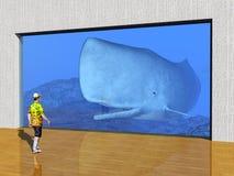 The Visit to the Aquarium Royalty Free Stock Photo